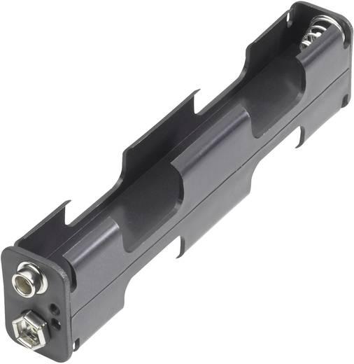 Goobay 10881 Batterijhouder 4 AA (penlite) Drukknopaansluiting (l x b x h) 110 x 26 x 16 mm