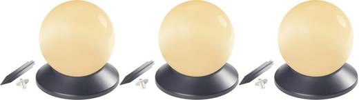 Solar decolamp Solarbol Set van 3 LED Amber Wit