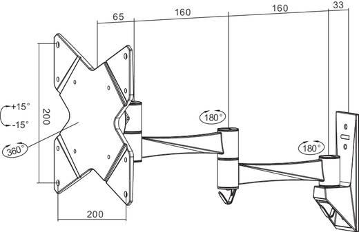"""TV-beugel NewStar Products FPMA-W835 25,4 cm (10"""") - 101,6 cm (40"""") Kantelbaar en zwenkbaar, Roteerbaar"""