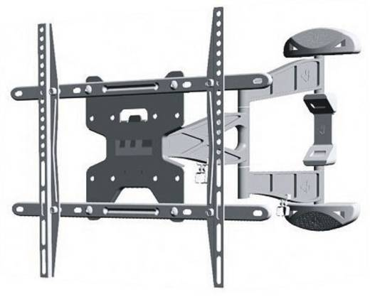 """TV-beugel NewStar Products LED-W500SILVER 81,3 cm (32"""") - 152,4 cm (60"""") Kantelbaar en zwenkbaar, Roteerbaar"""