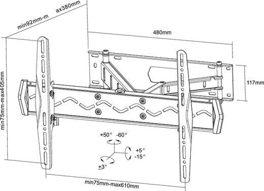 "TV-beugel NewStar Products LED-W560 81,3 cm (32"") - 152,4 cm (60"") Kantelbaar en zwenkbaar"