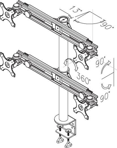 "Monitor-tafelbeugel NewStar Products FPMA-D700D4 48,3 cm (19"") - 76,2 cm (30"") Kantelbaar en zwenkbaar, Roteerbaar 4-vou"