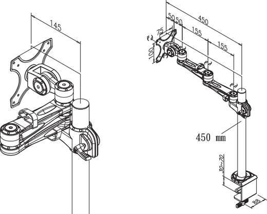 "Monitor-tafelbeugel NewStar Products FPMA-D935 25,4 cm (10"") - 76,2 cm (30"") Kantelbaar en zwenkbaar, Roteerbaar"