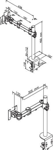 """NewStar Products FPMA-D960 Monitor-tafelbeugel 25,4 cm (10"""") - 76,2 cm (30"""") Kantelbaar en zwenkbaar, Roteerbaar Uittrekbaar"""