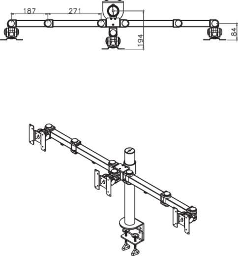 """NewStar Products FPMA-D960D3 Monitor-tafelbeugel 25,4 cm (10"""") - 54,6 cm (21,5"""") Kantelbaar en zwenkbaar, Roteerbaar Uit"""