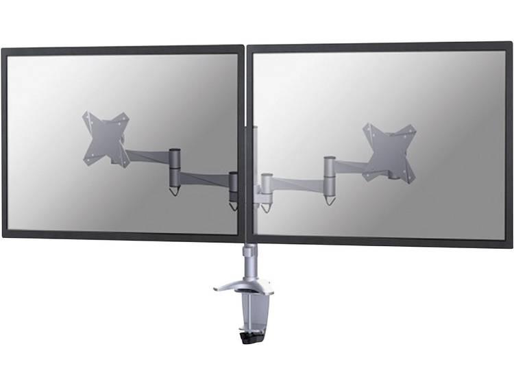 Monitor-tafelbeugel NewStar FPMA-D1330DSILVER 25,4 cm (10) - 68,6 cm (27) Kantelbaar en zwenkbaar, Roteerbaar 2-voudig