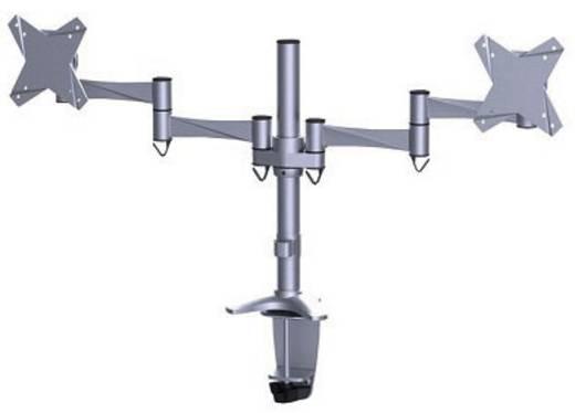 "NewStar Products FPMA-D1330DSILVER 2-voudig Monitor-tafelbeugel 25,4 cm (10"") - 68,6 cm (27"") Kantelbaar en zwenkbaar, R"