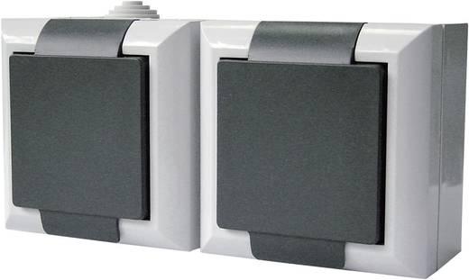GAO Dubbel stopcontact Business-Line Grijs 9168