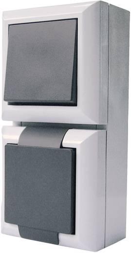 GAO Schakel-/stopcontact combinatie Business-Line Grijs 9171
