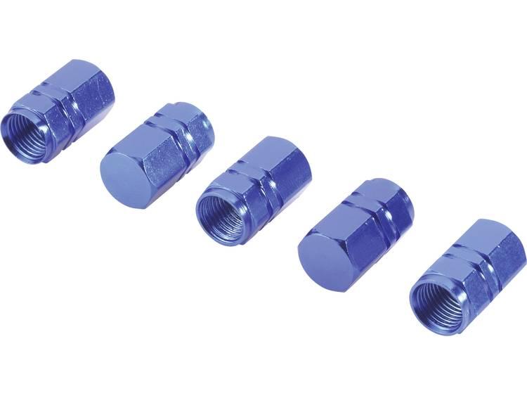 Ventielkap Set van 5 Blauw