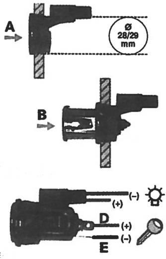 Sigarettenaansteker met spanhuls Stroombelasting (max.): 8 A Geschikt voor Sigarettenaansteker