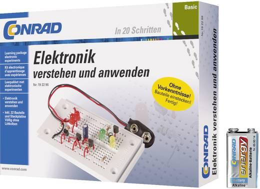 Conrad Components 616720 Set Basic Elektronik + 9 V Block-Batterie Leerpakket Leeftijdsklasse: vanaf 14 jaar