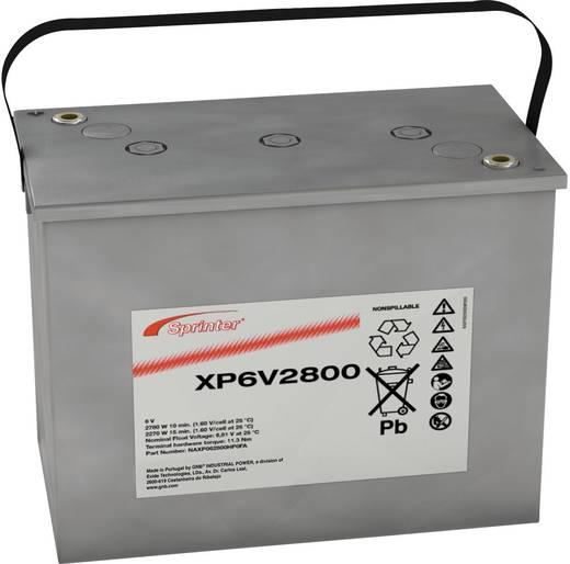 GNB Sprinter NAXP062800HP0FA Loodaccu 6 V 195 Ah XP6V2800 Loodvlies (AGM) (b x h x d) 309 x 241 x 172 mm M6-schroefaansluiting Onderhoudsvrij