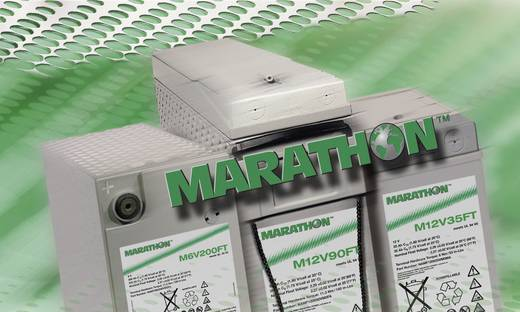 GNB Marathon NAMF120155VM0FA Loodaccu 12 V 150 Ah M 12V 155 FT UL94 Loodvlies (AGM) (b x h x d) 124 x 283 x 559 mm M6-schroefaansluiting Onderhoudsvrij