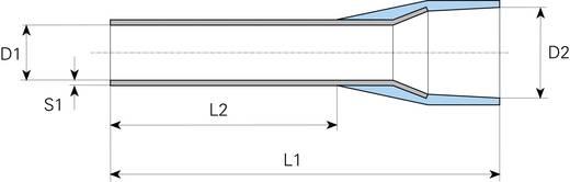 Vogt Verbindungstechnik 460006 Adereindhulzen 1 x 0.30 mm² x 6 mm Deels geïsoleerd Lichtblauw 100 stuks