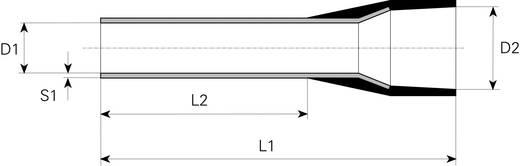 Vogt Verbindungstechnik 470408 Adereindhulzen 1 x 1.50 mm² x 8 mm Deels geïsoleerd Zwart 100 stuks