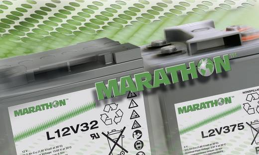 GNB Marathon NALL120015HM0MA Loodaccu 12 V 14 Ah L12V15 Loodvlies (AGM) (b x h x d) 181 x 167 x 76 mm M6-schroefaansluit