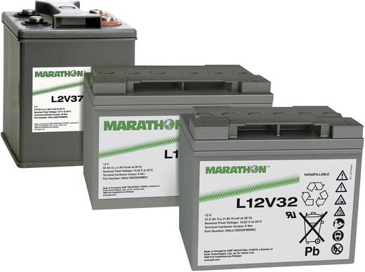 GNB Marathon NALL020470HM0FA Loodaccu 2 V 470 Ah L2V470 Loodvlies (AGM) (b x h x d) 209 x 265 x 202 mm M8-schroefaanslui