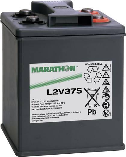 GNB Marathon NALL020375HM0FA Loodaccu 2 V 375 Ah L2V375 Loodvlies (AGM) (b x h x d) 209 x 265 x 202 mm M8-schroefaansluiting Onderhoudsvrij