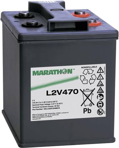 GNB Marathon NALL020470HM0FA Loodaccu 2 V 470 Ah L2V470 Loodvlies (AGM) (b x h x d) 209 x 265 x 202 mm M8-schroefaansluiting Onderhoudsvrij