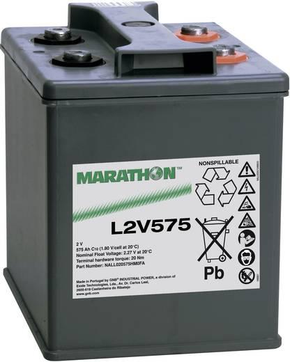 GNB Marathon NALL020575HM0FA Loodaccu 2 V 575 Ah L2V575 Loodvlies (AGM) (b x h x d) 209 x 265 x 202 mm M8-schroefaansluiting Onderhoudsvrij