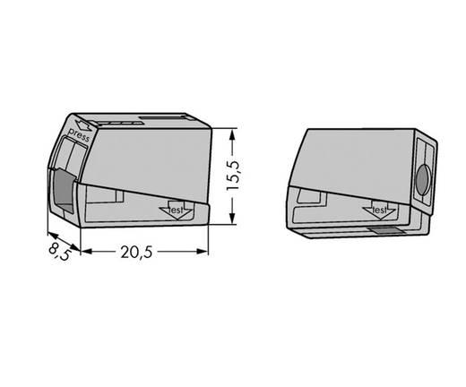 WAGO 51196504 Lampklem Flexibel: 0.5-2.5 mm² Massief: 0.5-2.5 mm² Aantal polen: 2 15 stuks Grijs