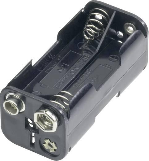 Goobay 11990 Batterijhouder 4 AAA (potlood) Drukknopaansluiting (l x b x h) 54.5 x 26 x 24.5 mm