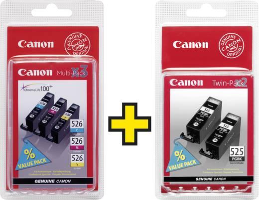 Canon Inkt PGI525PGBK / CLI-526 Origineel Combipack Zwart, Cyaan, Magenta, Geel 4529B010, 4541B009
