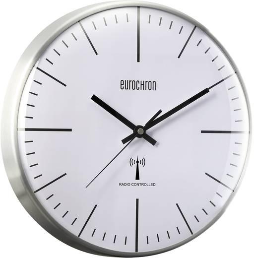 Eurochron Zendergestuurd Wandklok 31.7 cm x 7 cm Aluminium