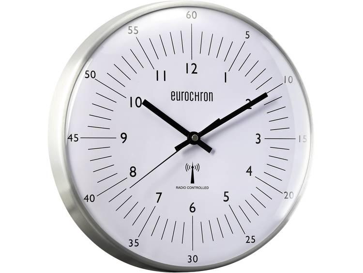 Eurochron Zendergestuurde wandklok EFWU 555 N (Ø x d) 31.5 cm x 6.6 cm Zilver