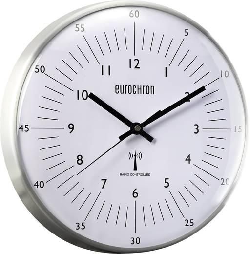 Eurochron Zendergestuurd Wandklok 31.5 cm x 6.6 cm Aluminium
