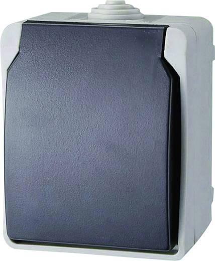 GAO Stopcontact met randaarde Standaard Grijs 9871