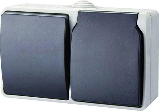 GAO Schakel-/stopcontact combinatie Standaard Grijs 9873