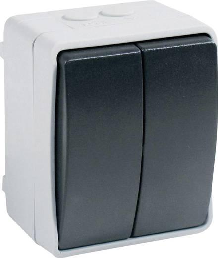 GAO Serieschakelaar Standaard Grijs 9875