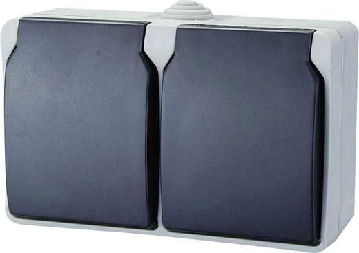 GAO Dubbel stopcontact Standaard Grijs 9872