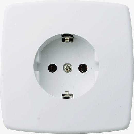 GAO Inbouw-stopcontact Geaard stopcontact enkel wit Crème-wit 16 A 250 V/AC