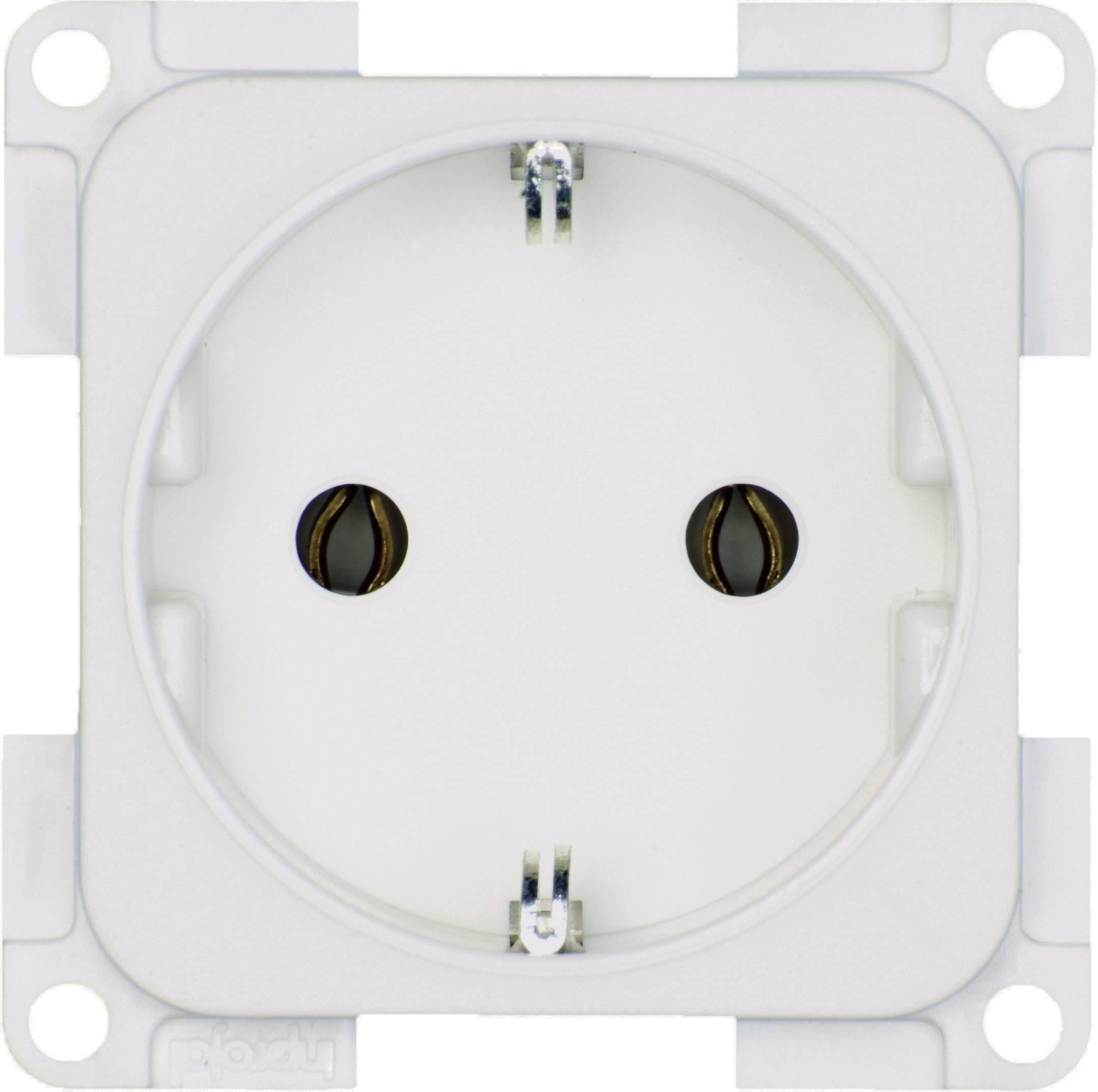 inprojal elektrosysteme Inbouw Stopcontact met randaarde Wit 102556 ...