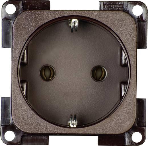 inprojal elektrosysteme Inbouw Stopcontact met randaarde Bruin 102563