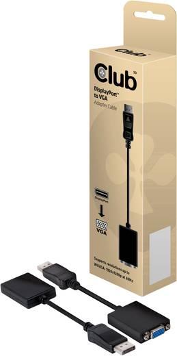 Adapter DisplayPort / VGA [1x DisplayPort stekker - 1x VGA bus] Zwart club3D