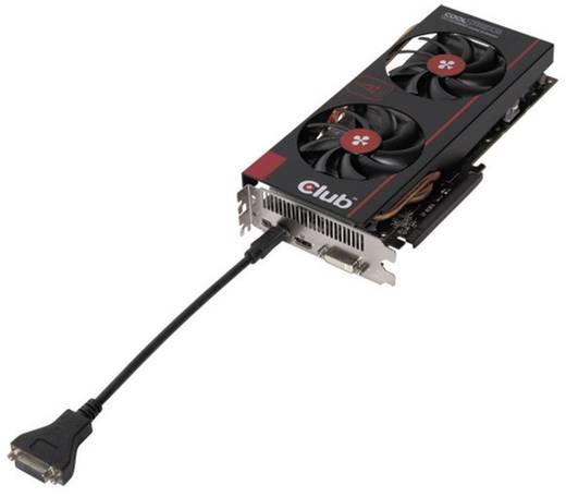DisplayPort / DVI Adapter [1x Mini-DisplayPort stekker - 1x DVI-bus 24+1-polig] Zwart club3D