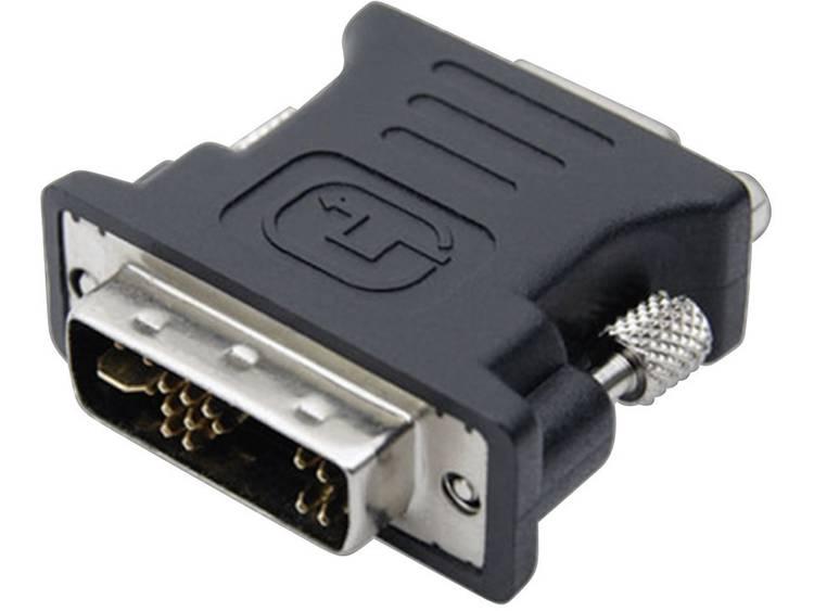 club3D DVI VGA Adapter [1x DVI stekker 12+5 polig 1x VGA bus] Zwart