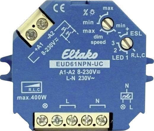 Dimmer (opbouw), Dimmer (inbouw) Geschikt voor lampen: Gloeilamp, Spaarlamp, Halogeenlamp, TL-buis Blauw Eltako EUD61NPN-UC