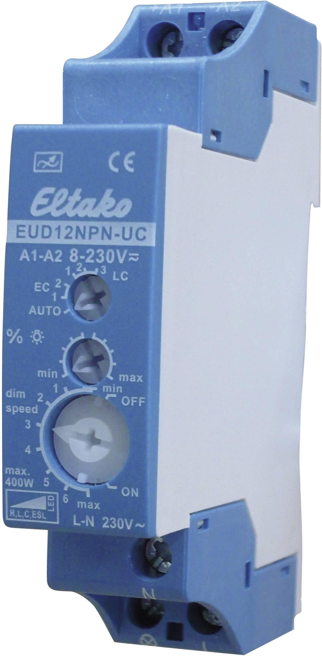 Eltako Eud12npn Uc Din Rail Dimmer Geschikt Voor Lampen Gloeilamp Spaarlamp Halogeenlamp Tl Buis Led Lamp Blauw Gri