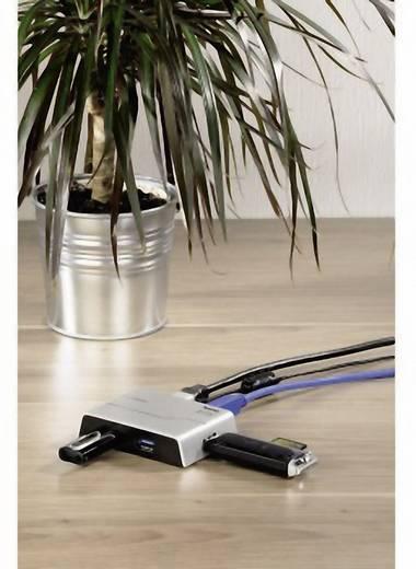 Hama 4 poorten USB 3.0 hub Zwart, Zilver