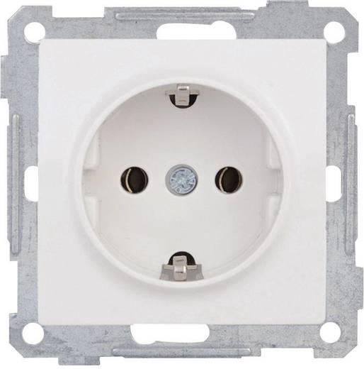 PERA Inbouw Stopcontact met randaarde Pera Wit 105015