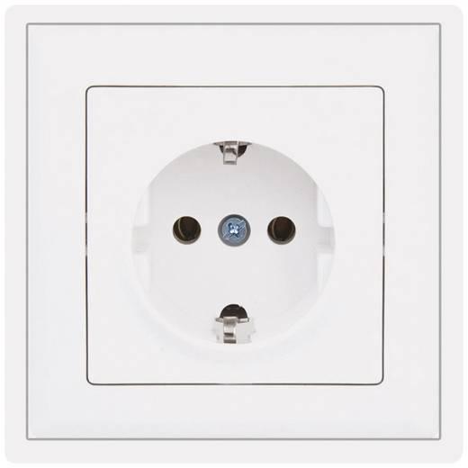 PERA Inbouw Stopcontact met randaarde Pera Wit 2120-100-0101