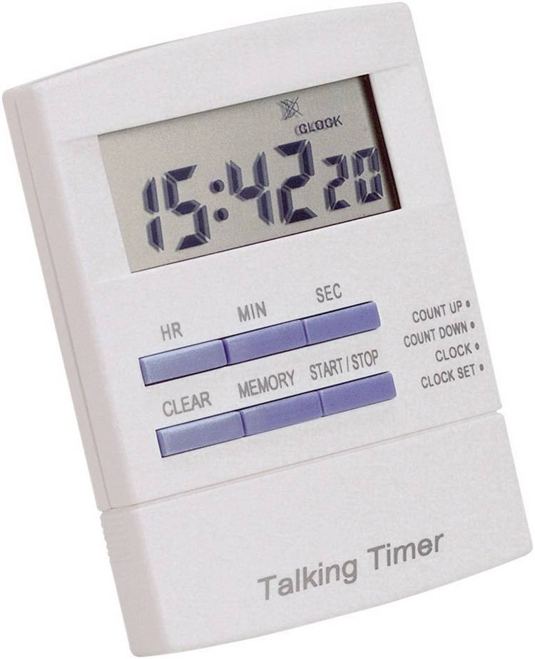Image of Timer 621250 Wit, Blauw Digitaal