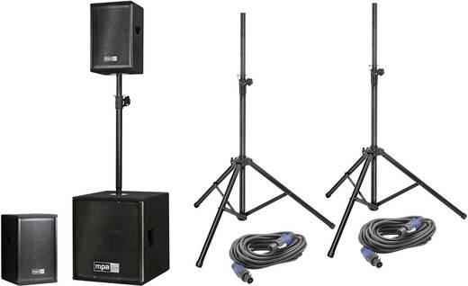 mpa M.A.R.L.I.S. 2.0 MK III Actieve PA luidsprekerset Incl. statief, Incl. tas
