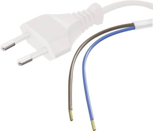 HAWA 1008201 Stroom Aansluitkabel [ Euro-stekker - Kabel, open einde] Wit 1.50 m