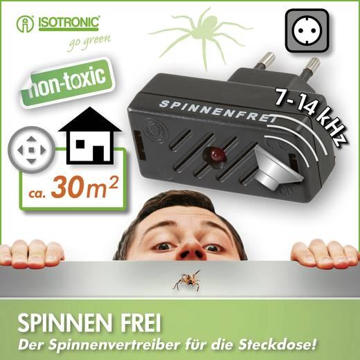 Spinnenverschrikker Isotronic Anti-Spider 66971 (l x b x h) 63 x 30 x 65 mm Zwart 1 stuks